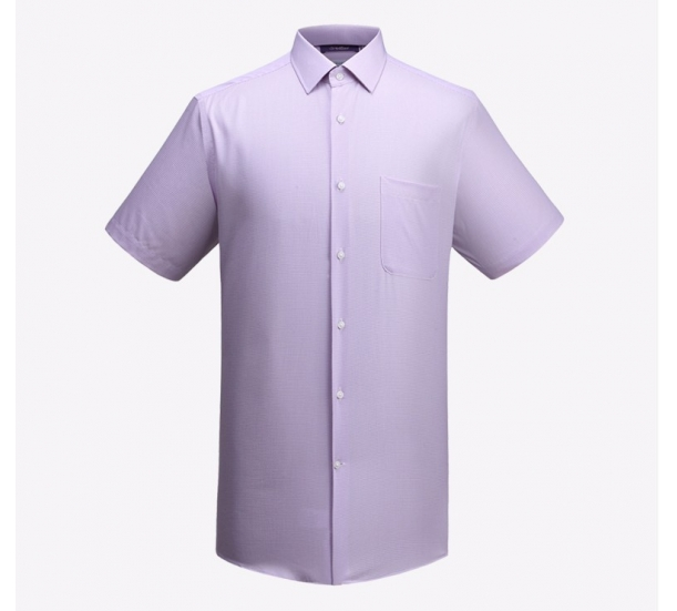 Men's Jacquard non-ironing Short sleeve dress shirt