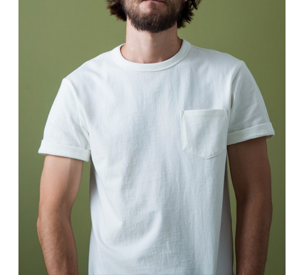 100%Cotton crew neck with pock short sleeve t-shirt
