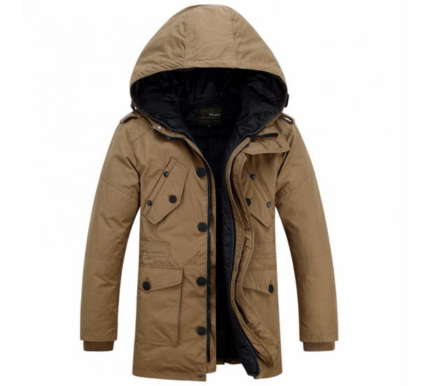 Winter men coats to thicken the increase in the men's hooded long coat