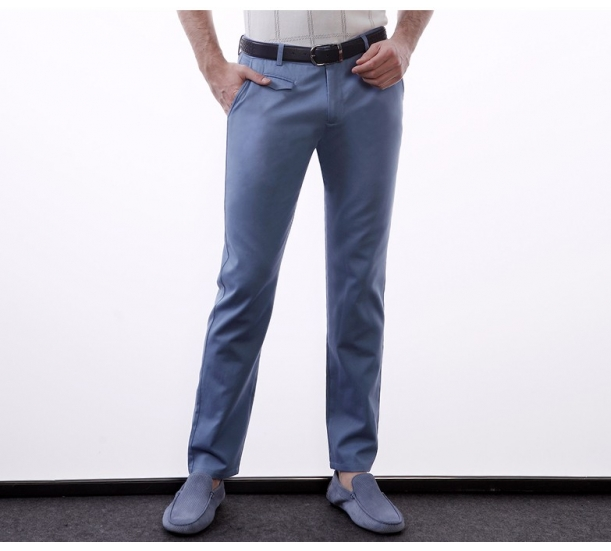 Men's pure color leisure trousers Men's cultivate one's morality pants pants