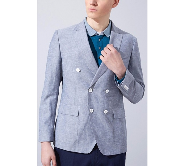 mens double-breasted wool cloth suit