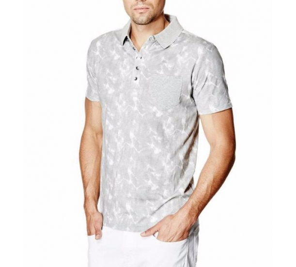 Men's V Neck All over printing fashion Polo tee shirts