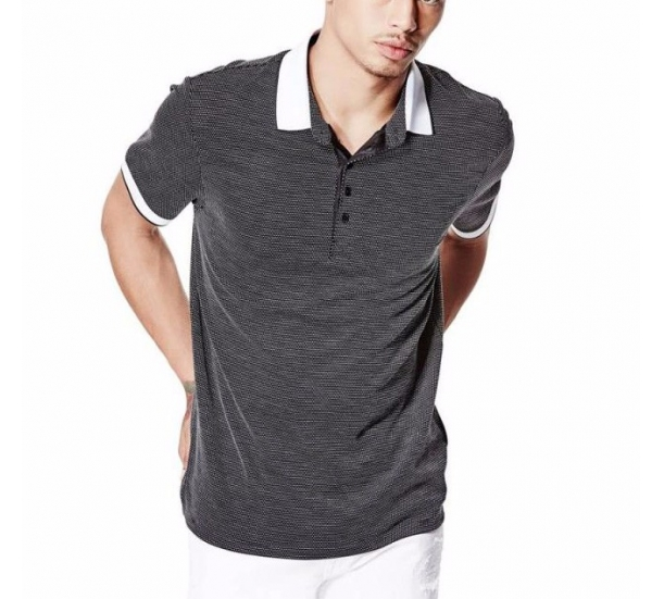 Men's Yarn dyed slim fit short sleeve Polo shirts