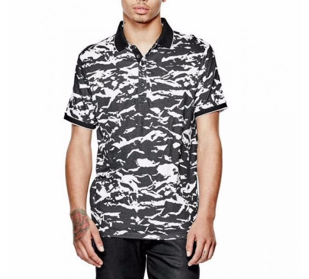 Men' s summer POLO t shirt , AOP Printing