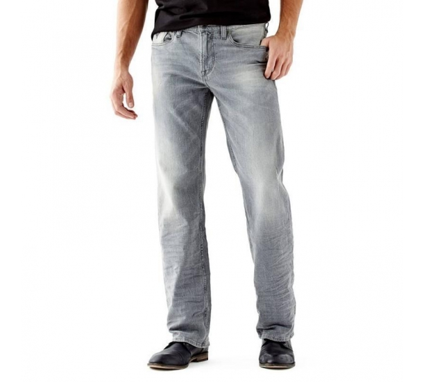 Mens Bleach wash Stone Enzyme wash Jeans