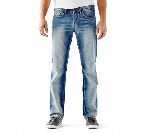 Mens vintage Grinding & Destroy wash basic jeans