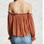 women's blouse , casual with elastic off shoulder