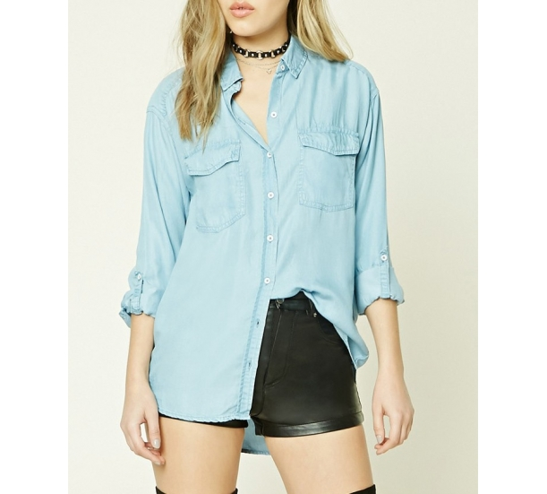 women's blouse , casual and hign low hem style