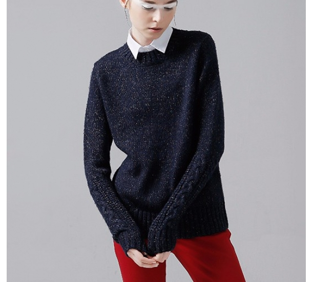 women's sweater ,  casual round neck pullovers