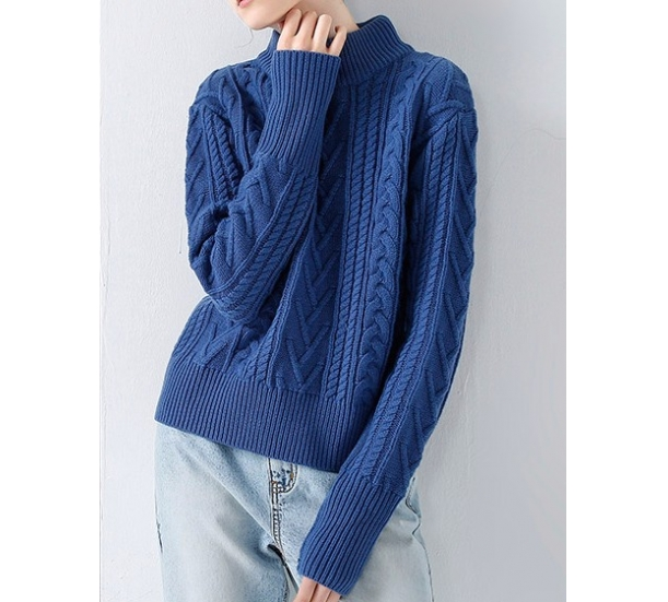 women's sweater ,  casual with high necked slim fit style