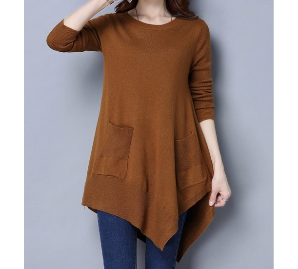 women's sweater , casual loose pullover long style
