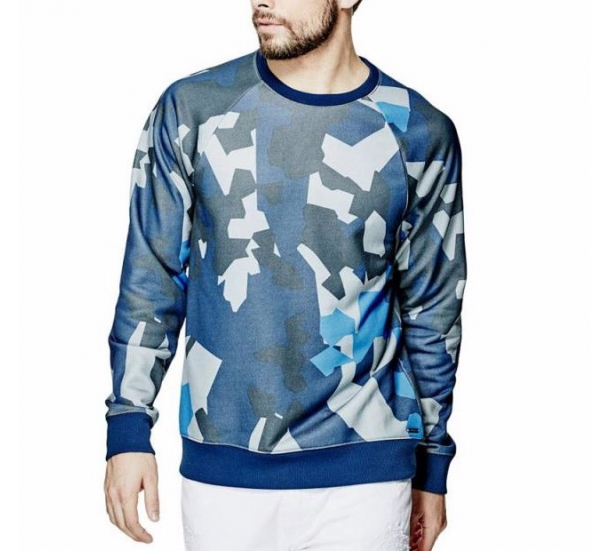 men's hoodies, fashion round neck long sleeve camouflage