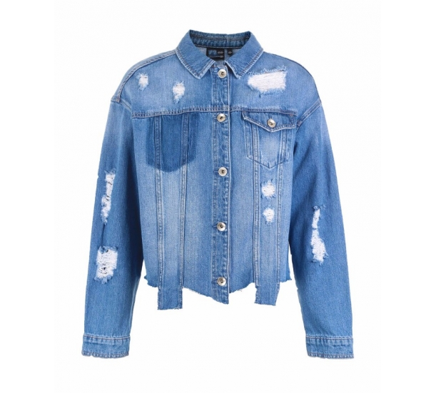 women's jackets , Casual with splicing jean coat