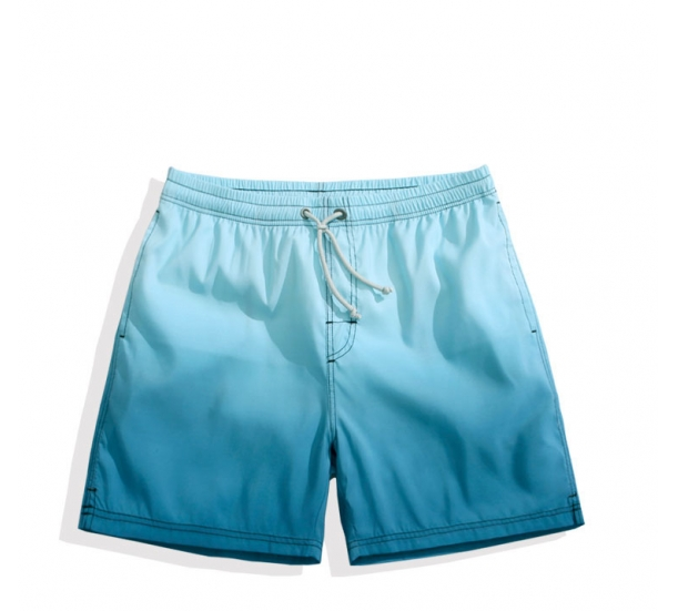 Men's swimwear , quick-drying cusual with gradual printing beach shorts