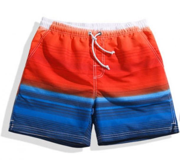 Men's swimwear , casual with tied lacing sport beach shorts