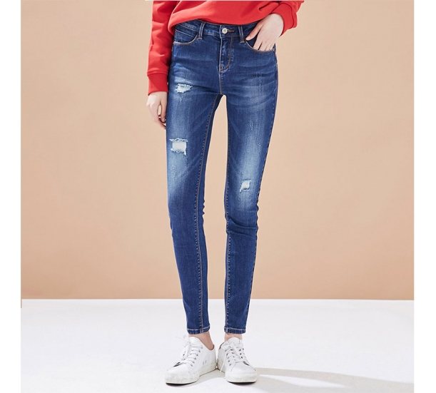 Lady's jeans, fashionable and casual style