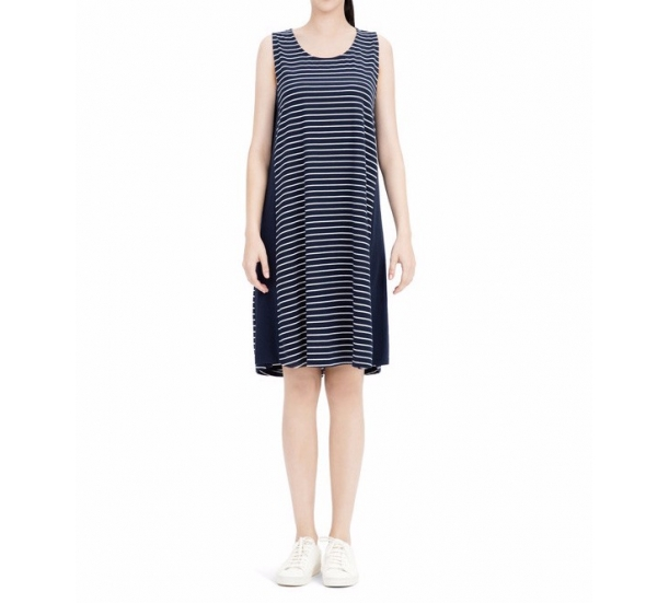 Summer round neck ,splicing with stripes sexy outdoor wearable