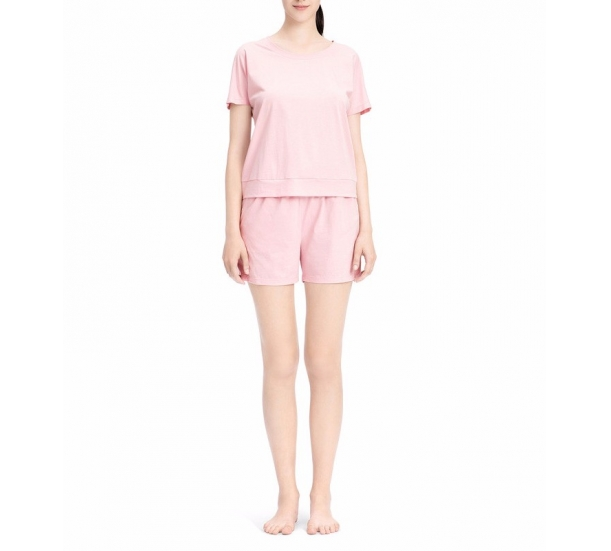 short sleeve and shorts suit , round neck mecerized cotton  thin style , comfortable homewear