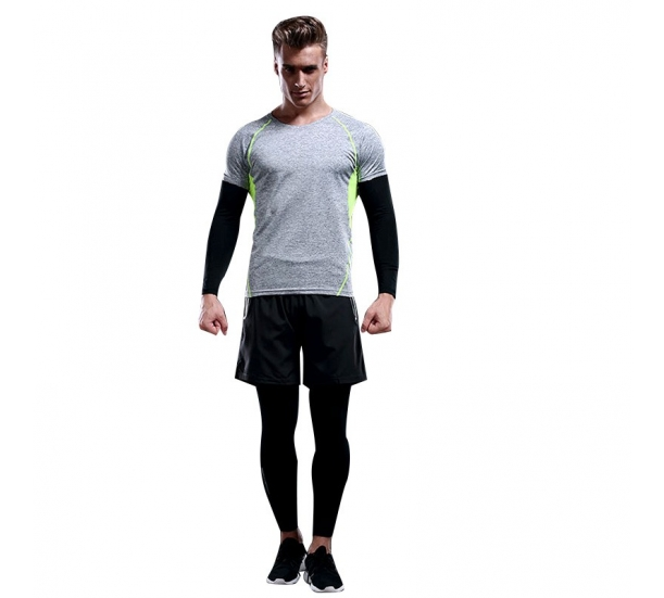 Contrast Panel Polyster Running T shirts