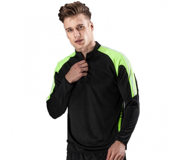 Elastic Contrast Panel Zip up Gym Jacket